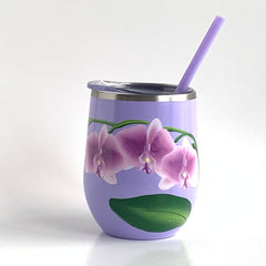 Orchids Steel Wine Tumbler