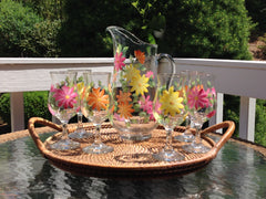 Summer Daisies 7-Piece Sangria Hostess Set