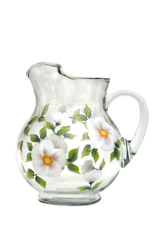 White Beach Roses Pitcher