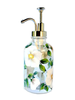 White Beach Roses Soap/Lotion Dispenser