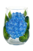 Blue Hydrangeas Stemless Wine Glass - Wineflowers
