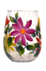 Summer Daisies Stemless Wine Glass - Wineflowers
