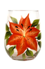 Tigerlilies Stemless Wine Glass - Wineflowers