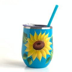 Sunflowers Steel Wine Tumbler