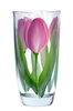 Pink and Cream Tulips Tumbler - Wineflowers