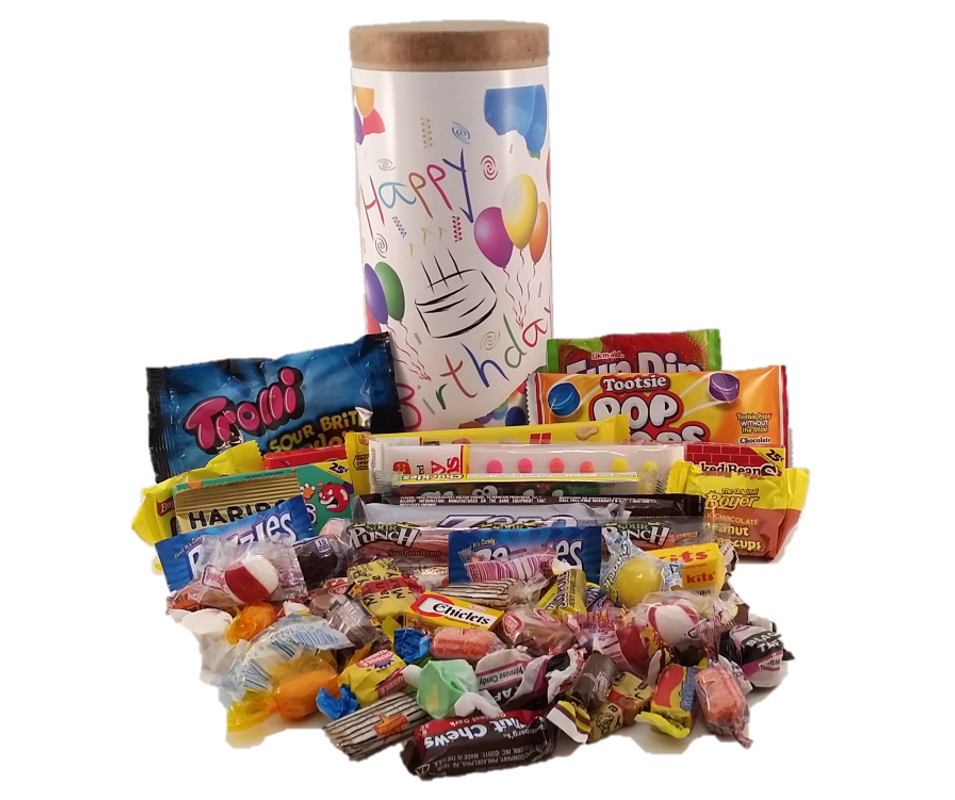 Happy Birthday Candy Capsule Simply Sweet Times