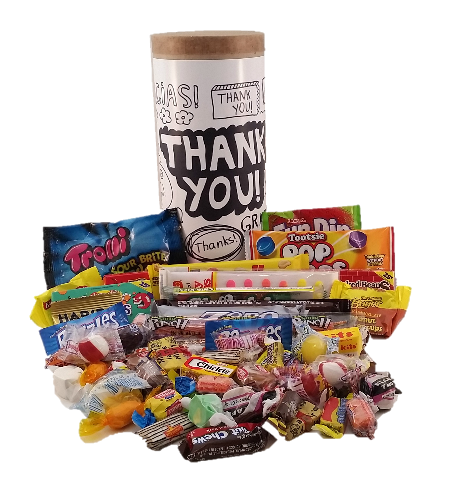 Thank You Candy Capsule - Simply Sweet Times