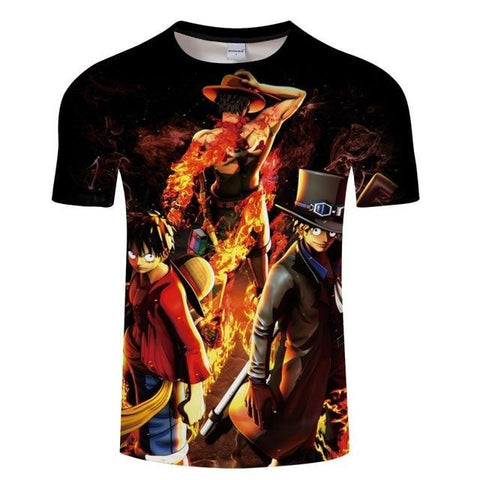 T-Shirt One Piece Sabo Ace Luffy