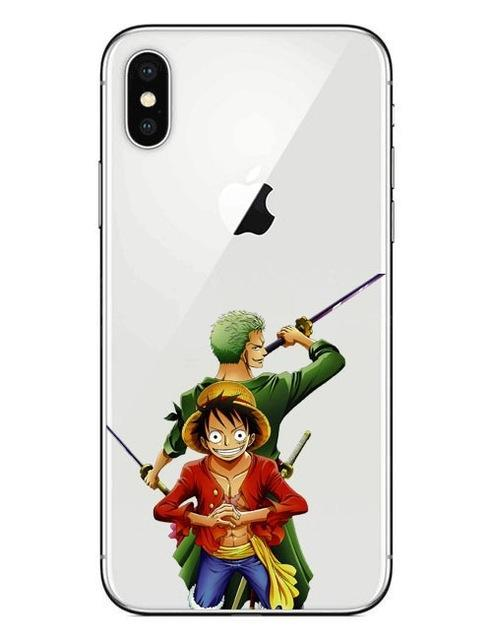 Coque One Piece iPhone Luffy & Zoro (Verre Trempé)