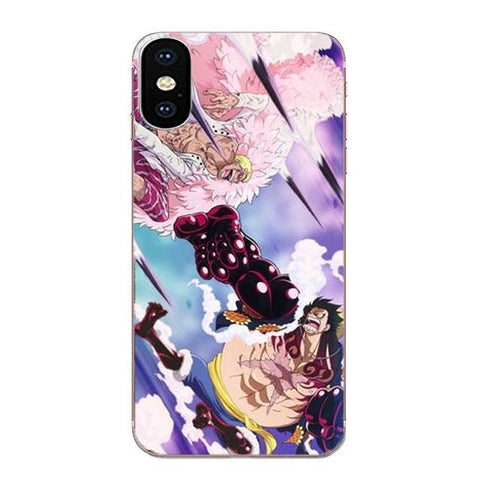 Coque One Piece LG Doflamingo vs Luffy