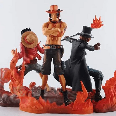 Figurine One Piece Luffy & Ace & Sabo (14-17cm)