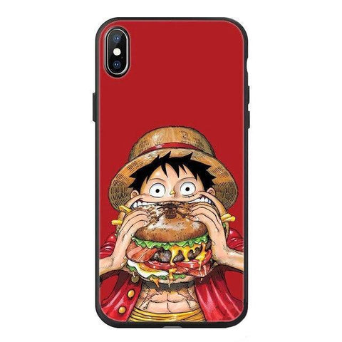 Coque One Piece iPhone Luffy Nourriture