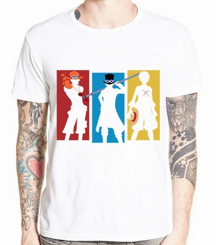 T-Shirt One Piece Ace Sabo Luffy