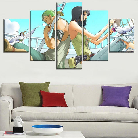 Tableau One Piece Zoro & Tashigi