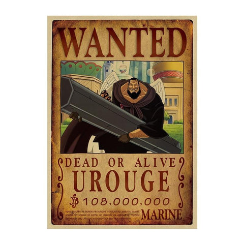Poster One Piece Wanted Urouge