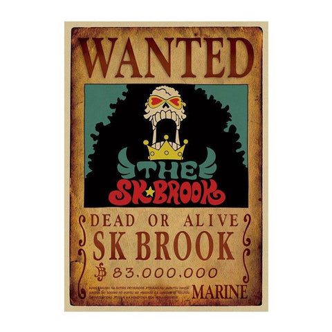 Poster One Piece Wanted Brook