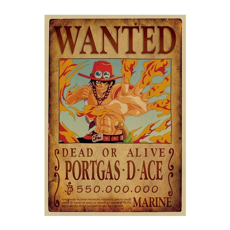 Poster One Piece Wanted Portgas D. Ace