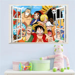 Stickers Muraux One Piece Équipage de Luffy