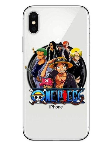 Coque One Piece iPhone Mugiwara (Verre Trempé)