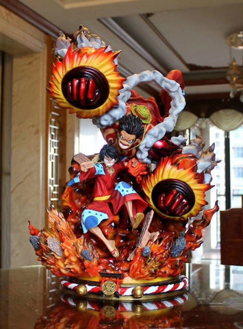 Figurine collector One piece Monkey D Luffy Gear (52 cm)