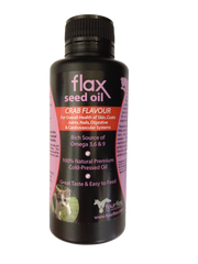 Flax Seed Oil for Cats with Crab Flavouring