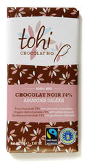 Organic Dark Chocolate with Salted Almonds