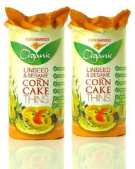 Organic Linseed & Sesame Corn Thins