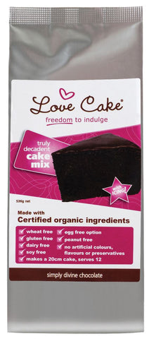 Organic Simply Divine Chocolate Cake Mix