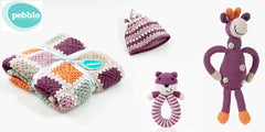 100% Organic Cotton Baby Gift Set - Soft Purple