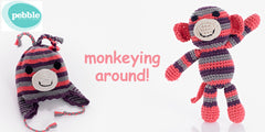 100% Cotton Monkeying Around Gift Set - Coral