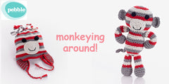 100% Cotton Monkeying Around Gift Set - Red