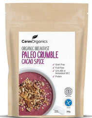 Organic Paleo Breakfast Crumble with Cacao