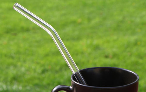 Handmade Glass Drinking Straw - Bent