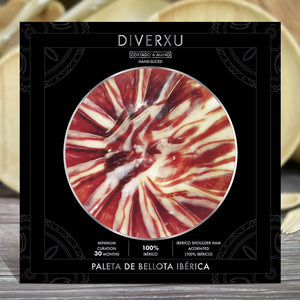 Hand-sliced 100% Iberico Shoulder ham, (Acorn) Minimum 30months Curation 50g