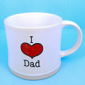 Coffee Mug Cup I Heart Dad Beverage Ceramic 17 oz Spectrum Pen Pencil Holder