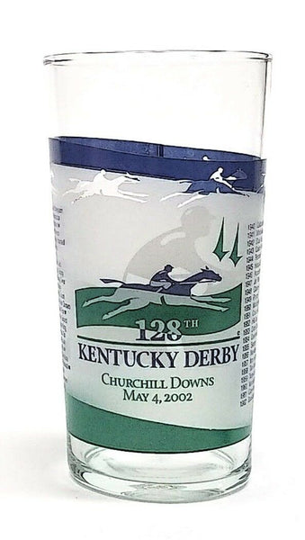 2002 Kentucky Derby 128 Mint Julep Glass, Winner Was War Emblem