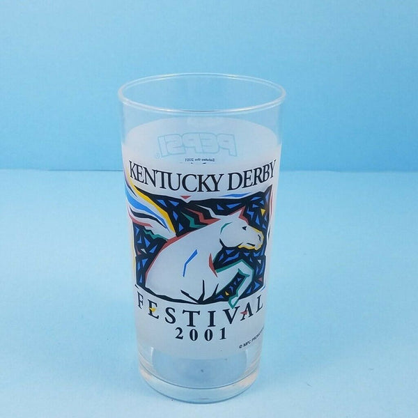 Kentucky Derby Festival 2001 Pegasus Mint Julep Beverage Drinking Glass Pepsi