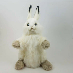 Rabbit Full Body Hand Puppet by Hansa Realistic Look Plush Animal Learning Toys