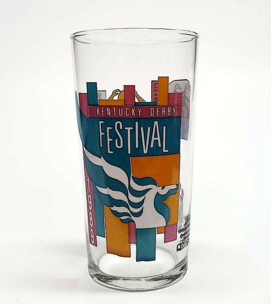 Kentucky Derby Festival Pegasus 1989 Mint Julep Beverage Drinking Glass