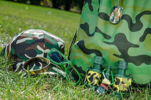 Kids Army Camouflage Dress Up Play Time Soldier Set Ages 4-7