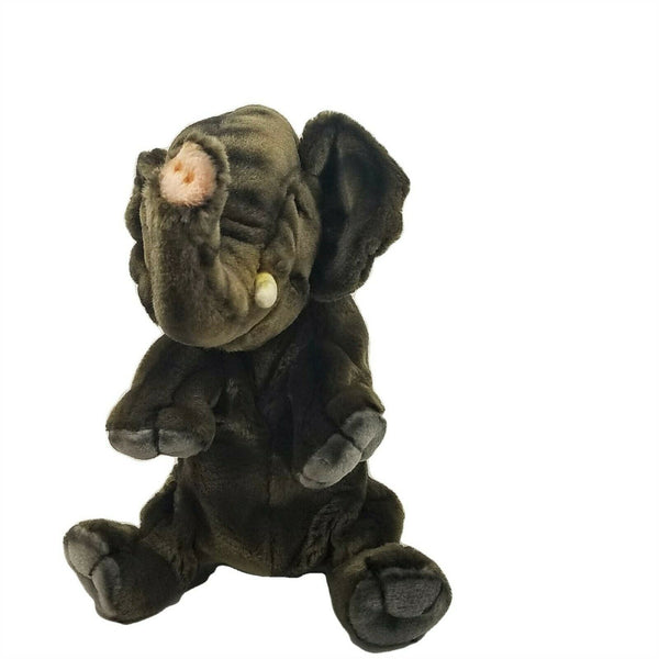 Elephant Full Body Hand Puppet by Hansa Realistic Look Plush Animal Learning Toy