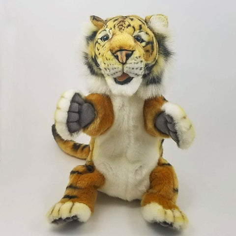 Tiger Hand Puppet Hansa by True to Life Look Soft Plush Animal Learning Toys