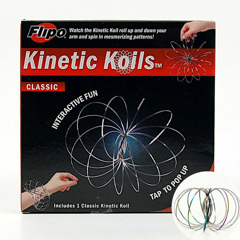Kinetic Koils Spring Flow Ring Multi Sensory by Flipo Interactive Fun - Rainbow