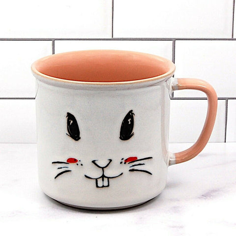 Easter Bunny Rabbit Face Coffee Mug or Succulent Cup Holder 18oz (532ml)