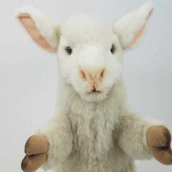 Lamb Full Body Hand Puppet by Hansa Realistic Look Plush Animal Learning Toys