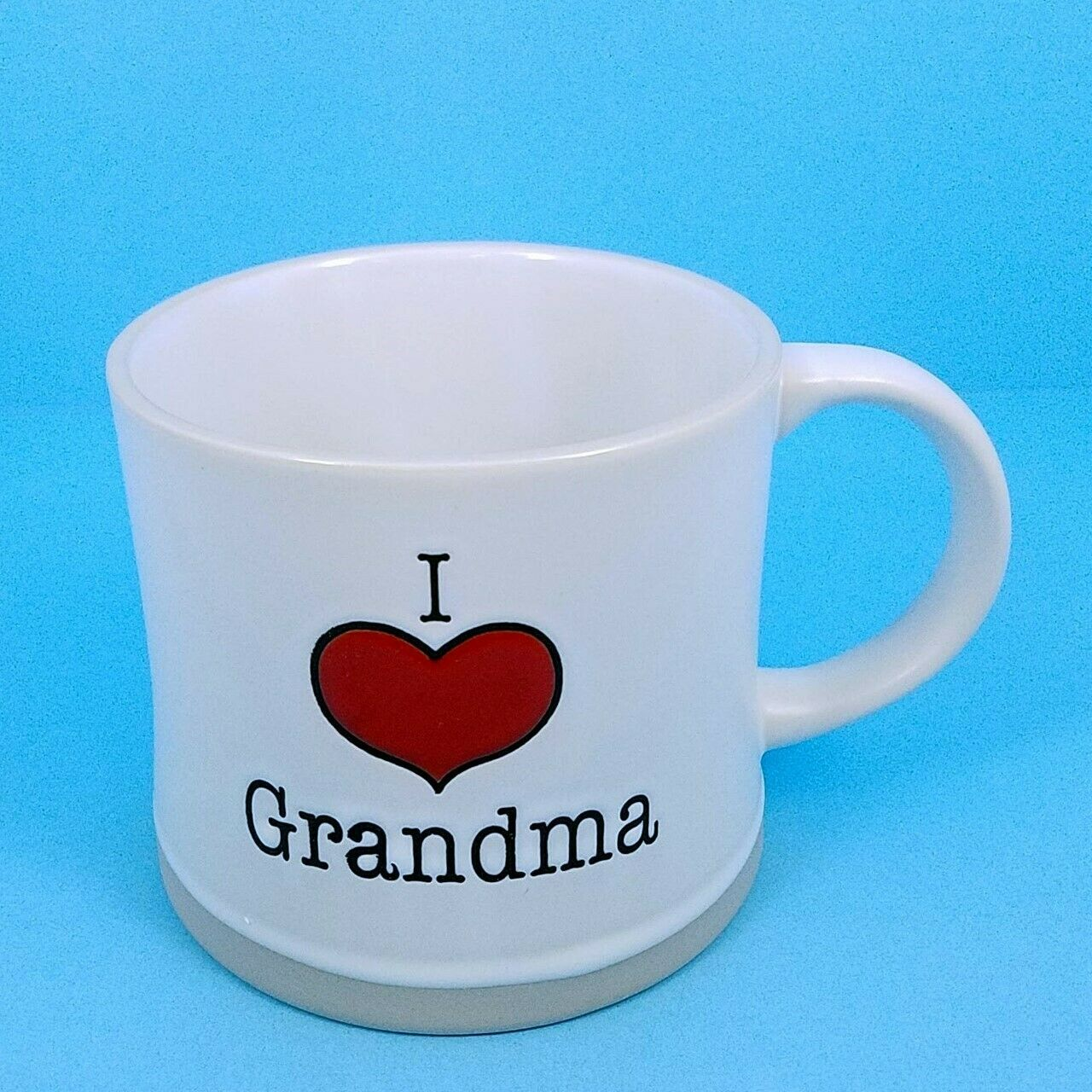Coffee Mug Cup I Heart Grandma Beverage Ceramic 17 oz Spectrum Pen Pencil Holder