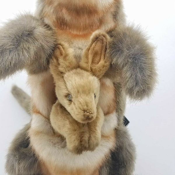 Kangaroo Full Body Hand Puppet by Hansa Realistic Look Plush Animal Learning Toy