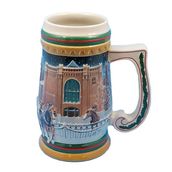 1997 Budweiser Stein Anheuser Bud Christmas Mug CS313 Home For The Holidays