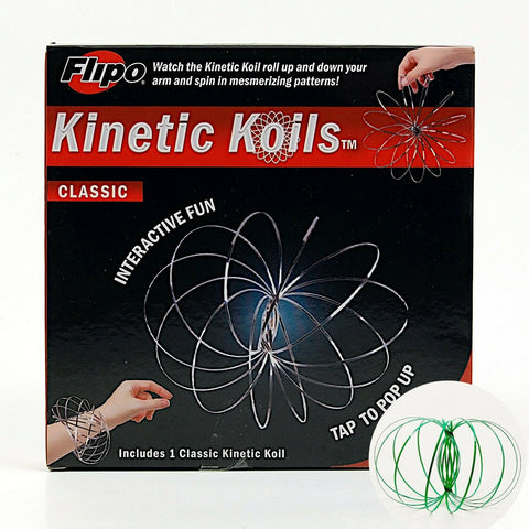 Kinetic Koils Spring Flow Ring Multi Sensory by Flipo Interactive Fun - Green
