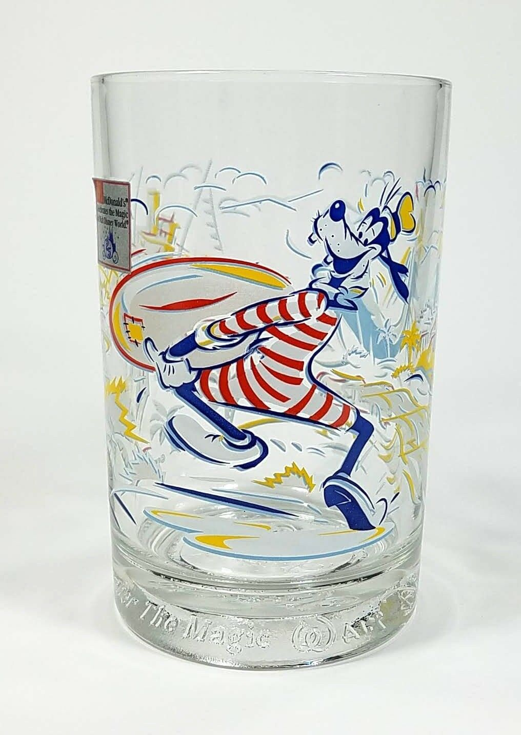 Walt Disney Goofy Drinking Glass 25th Anniversary Blizzard Beach Typhoon